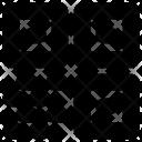 Barcode Blue Circle Icon