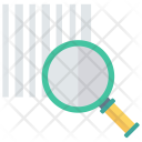 Barcode Search Magnifier Icon