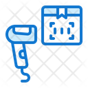 Barcode Scanner Truck Delivery Icon