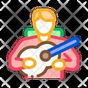 Bard Playing Guitar Icon
