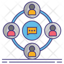 Bargaining Rights Group Connection Team Network Icon