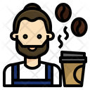 Barista Coffee Occupation Icon
