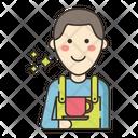 Barista Coffee Maker Serve Icon