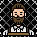 Barista Hipster Server Icon