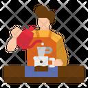 Barista Coffee Maker Icon
