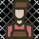 Barista Avatar Coffeeshop Icon