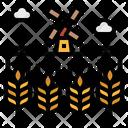 Field Landscape Scenery Icon