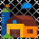 Farm Barn House Icon
