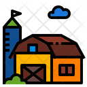 Farm Barn House Icon