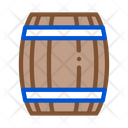 Barrel Alcohol Wooden Icon