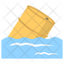 Barrel Barrel Floating Oil Container Icon