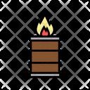 Barrel Burning Icon