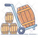 Barrel Cart Luggage Cart Pallet Truck Icon