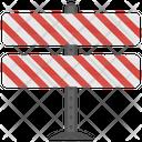 Traffic Barrier Guardrails Icon