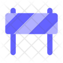 Barricade Barrier Work In Process Icon