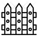 Barricade Fence Wooden Fence Icon