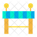 Barrier Construction Working Process Icon