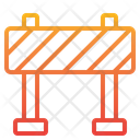 Warning Construction Barrier Block Icon