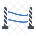 Barrier Crime Warning Icon