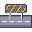 Barrier Road Barrier Road Block Icon