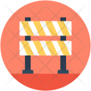 Barrier Construction Warning Icon