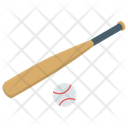 Bat Ball Game Equipment Cricket Tool Icon