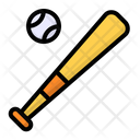 Baseball Ball Bat Icon