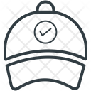 Baseball Cap Check Icon