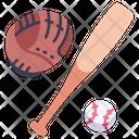 Baseball Glove Bat Icon