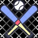 Baseball Baseball Bat Baseball Ball Icon