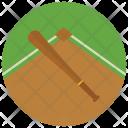 Baseball Bat Field Icon