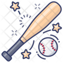 Baseball Bat And Ball Icon
