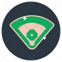 Baseball Court Playground Game Arena Icon