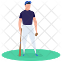 Sport Outdoor Game Baseball Player Icon