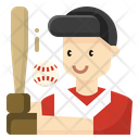 Baseball Man Avatar Icon