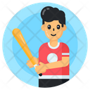 Sportsman Player Baseball Player Icon