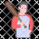Sports Man Baseball Player Athlete Icon