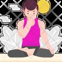 Basic Breathing Pranayama Breathing Excercise Breathing Icon