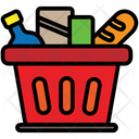 Basket Shopping Bread Icon