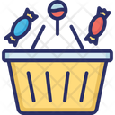 Basket Candies Halloween Shopping Icon