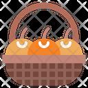 Basket Fruit Oranges Icon