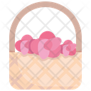 Basket Floral Beautiful Icon