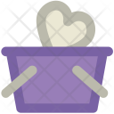 Basket Heart Sign Icon