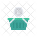 Basket Bitcoin Trolley Icon