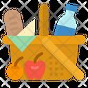 Basket Picnic Autumn Icon
