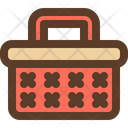 Basket Wooden Picnic Icon