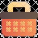 Basket Wooden Picnic Icon