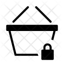 Basket Lock Secure Icon