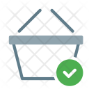 Basket Done Checkmark Icon