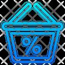 Basket Online Discount Icon